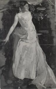 Studie voor het portret van de actrice Theo Mann-Bouwmeester in de rol van Francine de Riverolles