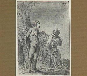 Lazarillo's vrouw wordt door haar huidige echtgenoot naakt aan een boom vastgebonden (Lazarillo de Tormes dl. 2, cap. 9, p. 81)