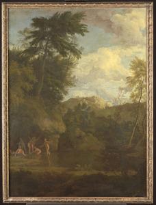 Arcadisch landschap met badende Diana