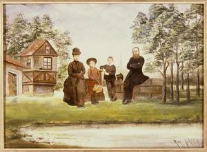 Portret van François Johannes Lucius Hoek (1847-1926), Francisca Henrietta Cornelia Maria de Keijzer (1853-1928) en hun kinderen
