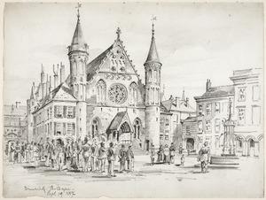 Het Binnenhof in Den Haag op 19 september 1887, een dag voor Prinsjesdag