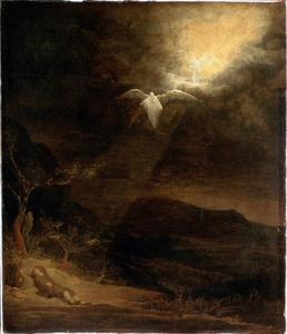 De droom van Jacob: engelen dalen neer uit de hemel naar de aarde (Genesis 28:12)