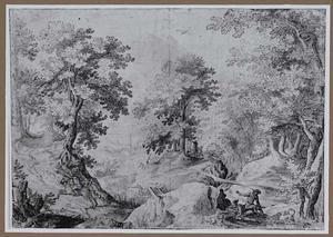 Bosrijk berglandschap met hazenjacht