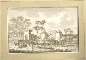 Zutphen, gezicht op de wallen 1785