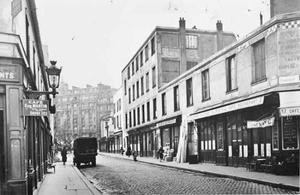 Prentbriefkaart van Rue du Départ