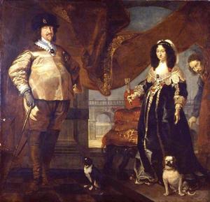 Portret van prins Christiaan (1603-1647) met zijn gemalin, prinses Magdalena Sibylla van Saksen (1617-1668)