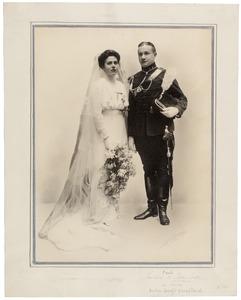 Portret van Pieter Paul de Beaufort (1886-1953) en Anna Hillegonda Hooft Graafland (1893-1977)