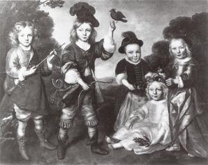 Portret van vijf onbekende kinderen