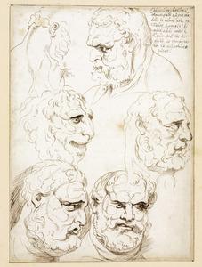 Studiekoppen van Hercules en van een leeuw