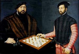 Johann Friedrich de Grootmoedige bij het schaakspel te Innsbruck
