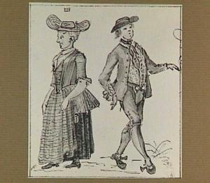 Zuidhollandse boer en boerin