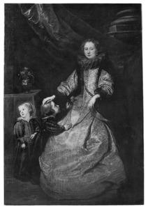 Portret van Battina Balbi (?-?) met haar zoons Giacomo Durazzo (1620-1679) en Carlo Emanuele Durazzo (1622-1674)