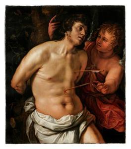 De H. Sebastiaan vertroosd door een engel