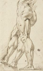 Anatomische studie van de benen van een man