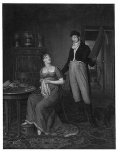 Portret van Jacob Arkenbout Penninck Hoofd (1782-1819) en Sara Maria Verloren (1788-1860)