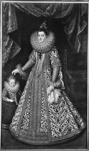 Portret van Isabella Clara Eugenia (1566-1633), aartshertogin van Oostenrijk