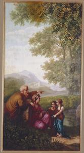 Zuidelijk landschap met familiegroep