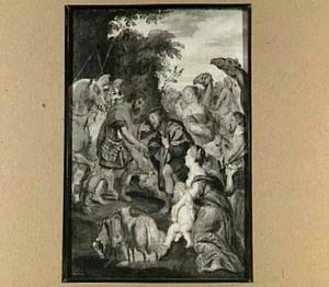 De verzoening van Jacob en Esau (Genesis 33:4)