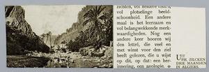 Rotsachtig landschap met palmbomen en een beek in Algiers