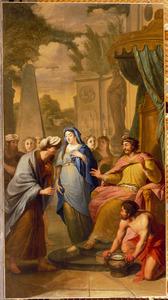 Koning Abimelech geeft Sara aan Abraham terug (Genesis 20:14)