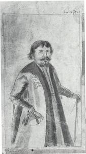 Portret van een man in Russisch gewaad, zelfportret (?) van Andrej Andrejevitsj Winius (1641-1717)