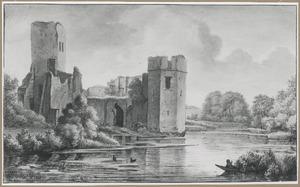 Ruïne van kasteel Honingen in Kralingen, bij Rotterdam