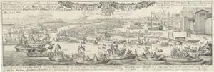 Triomftocht op het water bij de aankomst te Londen van koning Karel II en koningin Catharina van Braganza