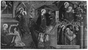 De geboorte van Maria, de annunciatie, de visitatie, de geboorte van Christus, de aanbidding van de Wijzen, de besnijdenis