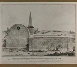 Zijaanzicht van het graf van de familie Van der Capellen