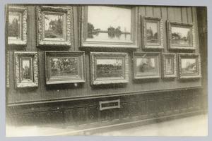 Inrichting tentoonstelling van Nicolaas Bastert Den Haag