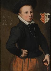 Portret van een zevenjarige jongen uit de familie Tedingh