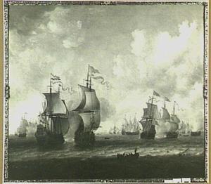 De zeeslag bij Lowestoft (1665)