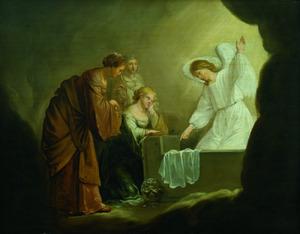De drie Maria's bij het lege graf van Christus