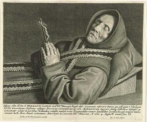 Portret van de Minderbroeder Herman Lisens (1593-1661), opgebaard