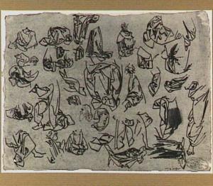 Studies van koppen en draperieën