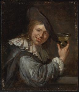 Jongeman met wijnroemer