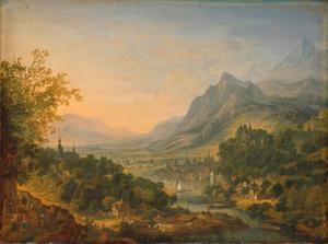 Rivierdal in de bergen