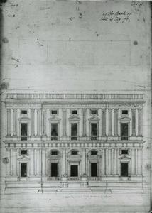 Villa Guistiniani Cambiaso: Plan van de gevel
