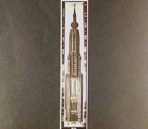 De toren van de Nieuwe Kerk in Delft vóór 1536