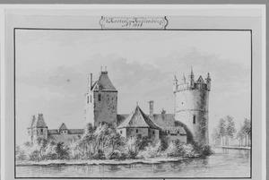 Rechterzijde van het kasteel Culemborg