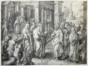 Paulus verblindt de tovenaar Elymas in Paphos op Cyprus (Handelingen 13:11-12)
