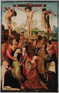 De kruisiging met een claris als stichtster