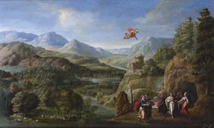 Berglandschap met Mercurius en Herse