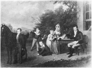 Portret van de familie van Jacob van Geuns (1769-1832)