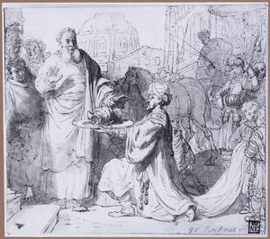 Elisa weigert de geschenken van Naäman (2 Kon. 5:15-16)