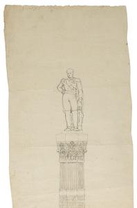 Onuitgevoerd ontwerp voor de Congreskolom (Colonne du Congrès) in Brussel