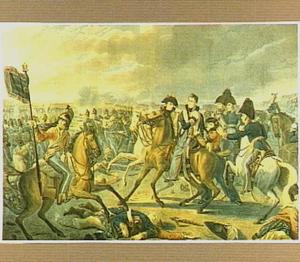 De verwonding van prins Willem van Oranje tijdens de Slag bij Waterloo op 18 juni 1815