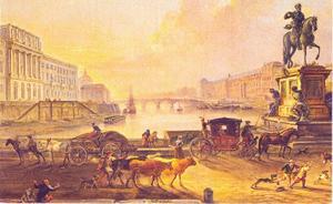 Pont Neuf en standbeeld van Henri IV omstreeks 1775