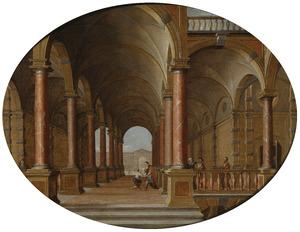 Interieur van een paleis met de terugkeer van de Verloren Zoon