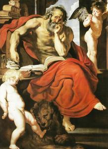 De Heilige Hiëronymus in zijn studie